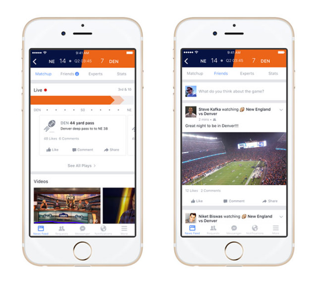 Captures Facebook Sports Stadium