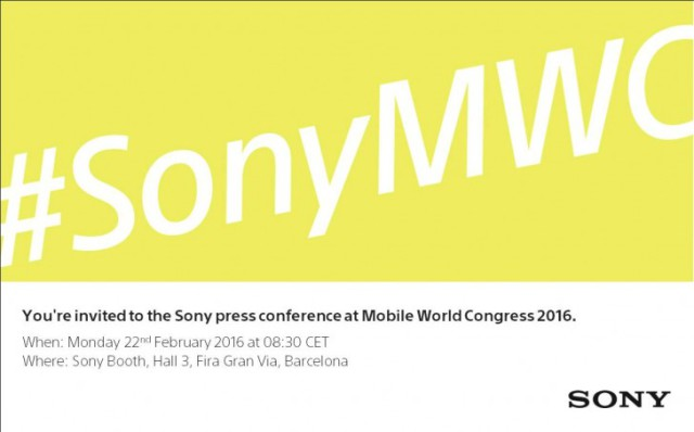 Invitation Sony MWC