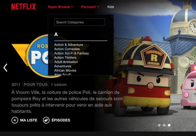 Capture Netflix Super Browse