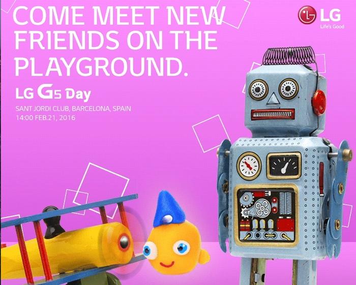 Le LG G5 sera présenté le 21 février
