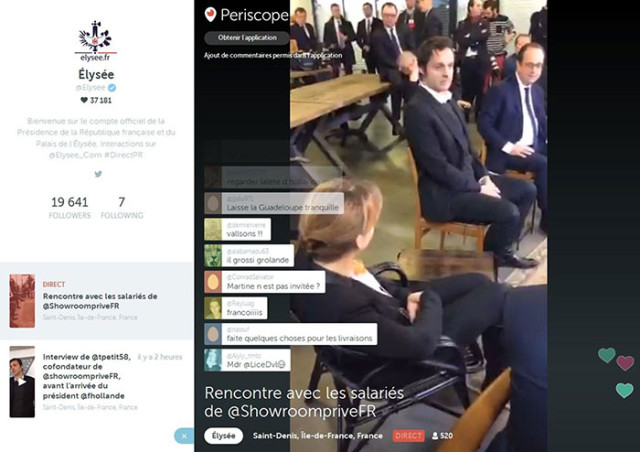 Capture Hollande Periscope