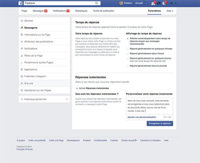 Capture Messagerie Facebook