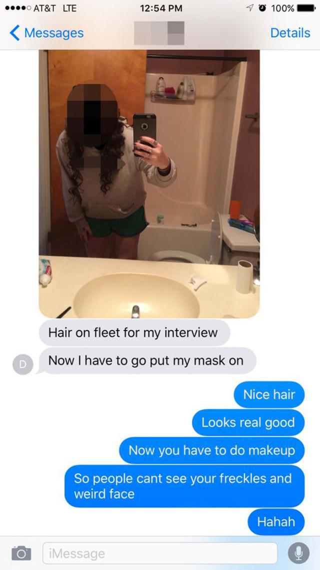 Selfie embarrassant 1