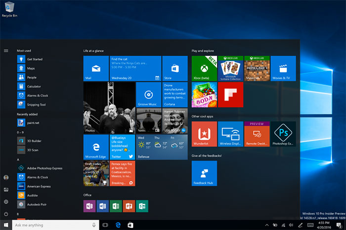 Démarrer Windows 10