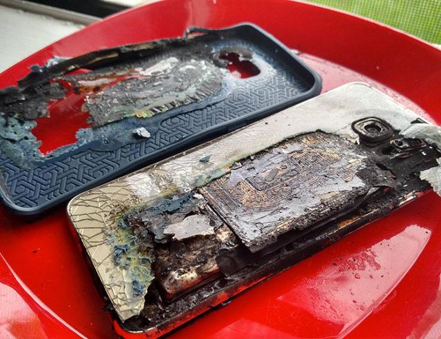 Explosion Samsung Galaxy S6 Edge+ : image 1