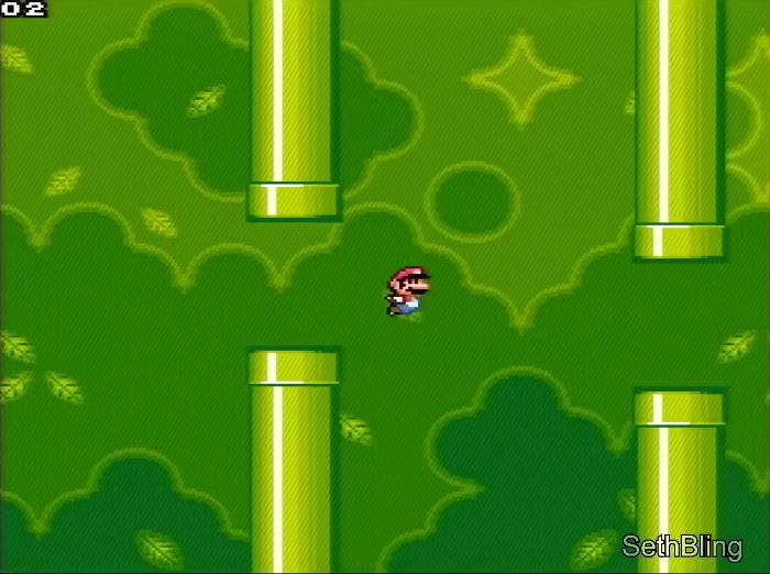 Flappy Bird dans Super Mario World