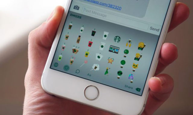 starbucks lance son clavier virtuel et des emojis pour iphone. Black Bedroom Furniture Sets. Home Design Ideas