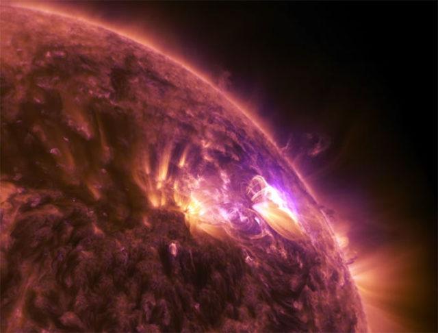 Eruption solaire