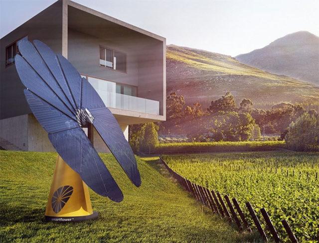smartflower la fleur solaire qui cherche r inventer le photovolta que. Black Bedroom Furniture Sets. Home Design Ideas