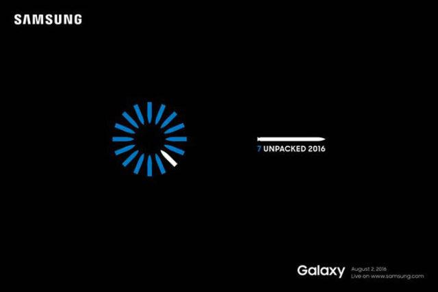 Invitation Galaxy Note 7