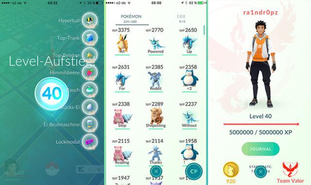 Pokémon Go niveau 40 : image 2