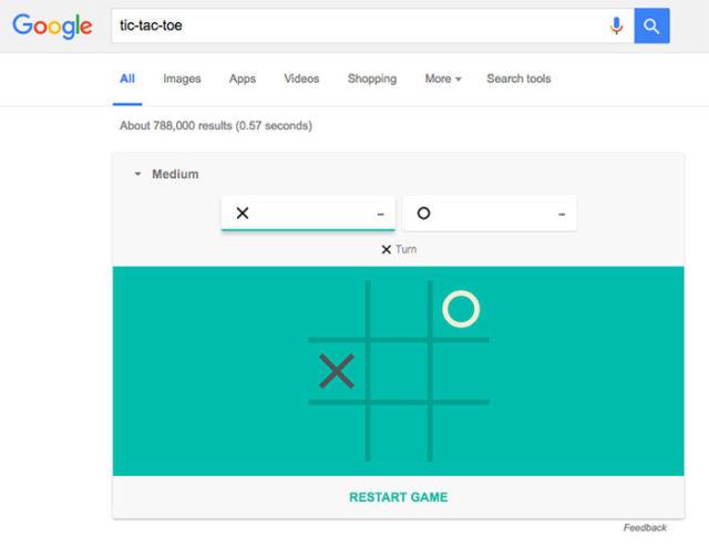 Tic-Tac-Toe Google