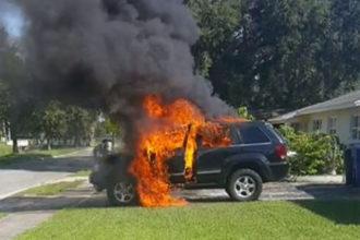 Incendie Jeep