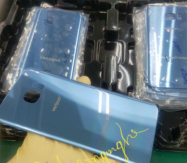 Galaxy S7 Edge bleu corail