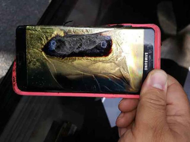 Galaxy Note 7 Burn Minnesota 1