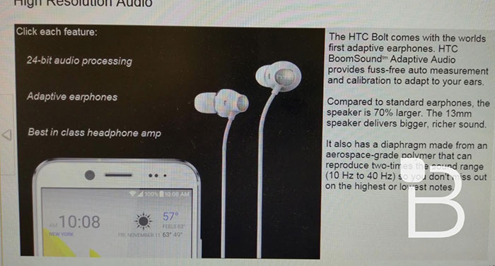 Diapo HTC Bolt : image 1
