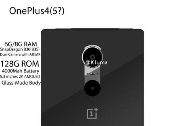 OnePlus 4 Fuite