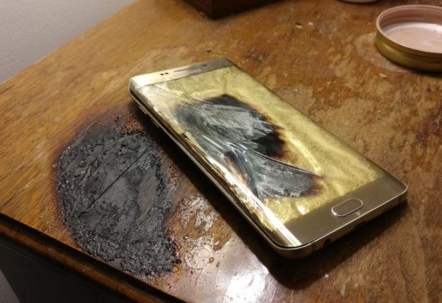 Explosion Galaxy S6 Edge : image 1