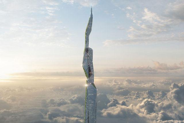 Arconic a imaginé un gratte-ciel de 4,8 km de haut capable de purifier l'air