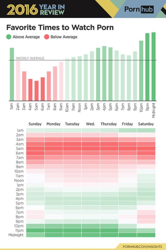 Pornhub 2016 : infographie 5