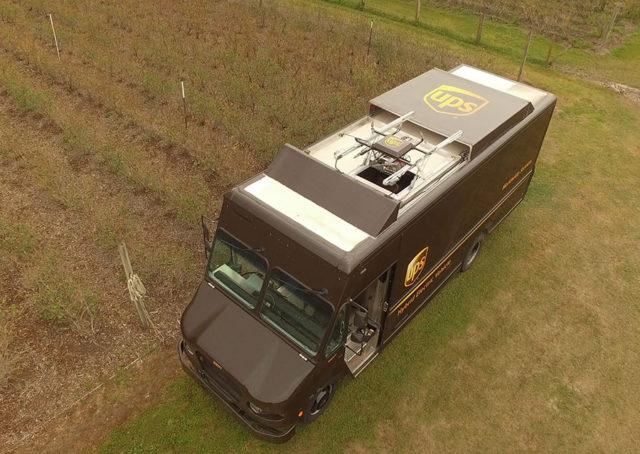 UPS fait décoller des drones depuis ses camions de livraison