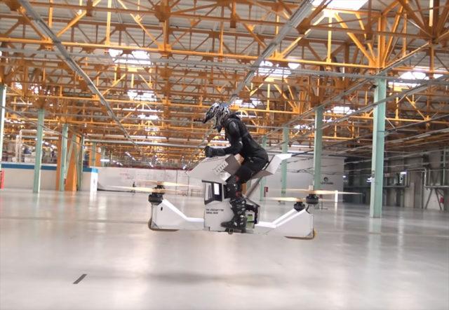 L'Hoverbike Scorpio-3, la moto volante à la russe