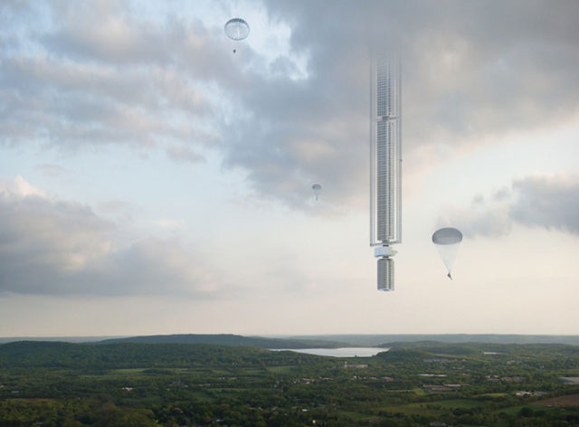 Ils ont imaginé un gratte-ciel suspendu à un astéroïde en orbite