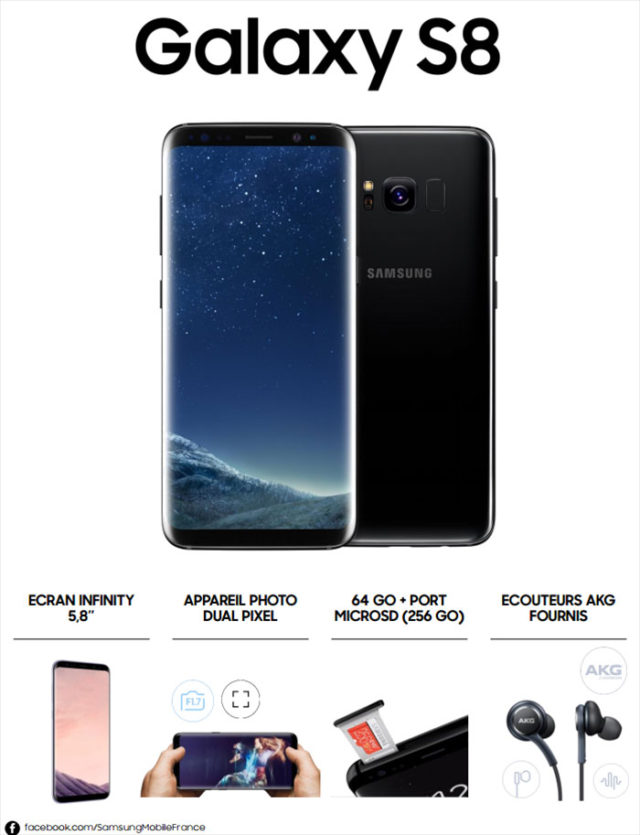 samsung galaxy s8 le prix et la date de sortie en france. Black Bedroom Furniture Sets. Home Design Ideas