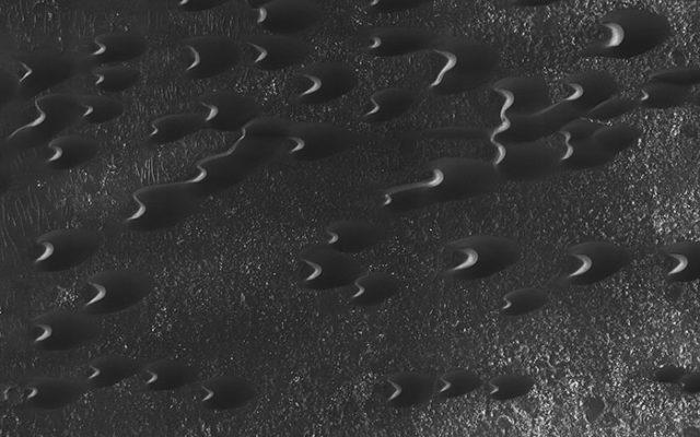 Dunes croissants Mars