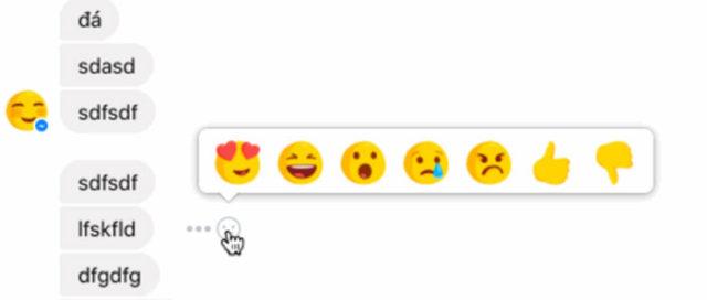 Capture Réactions FB Messenger