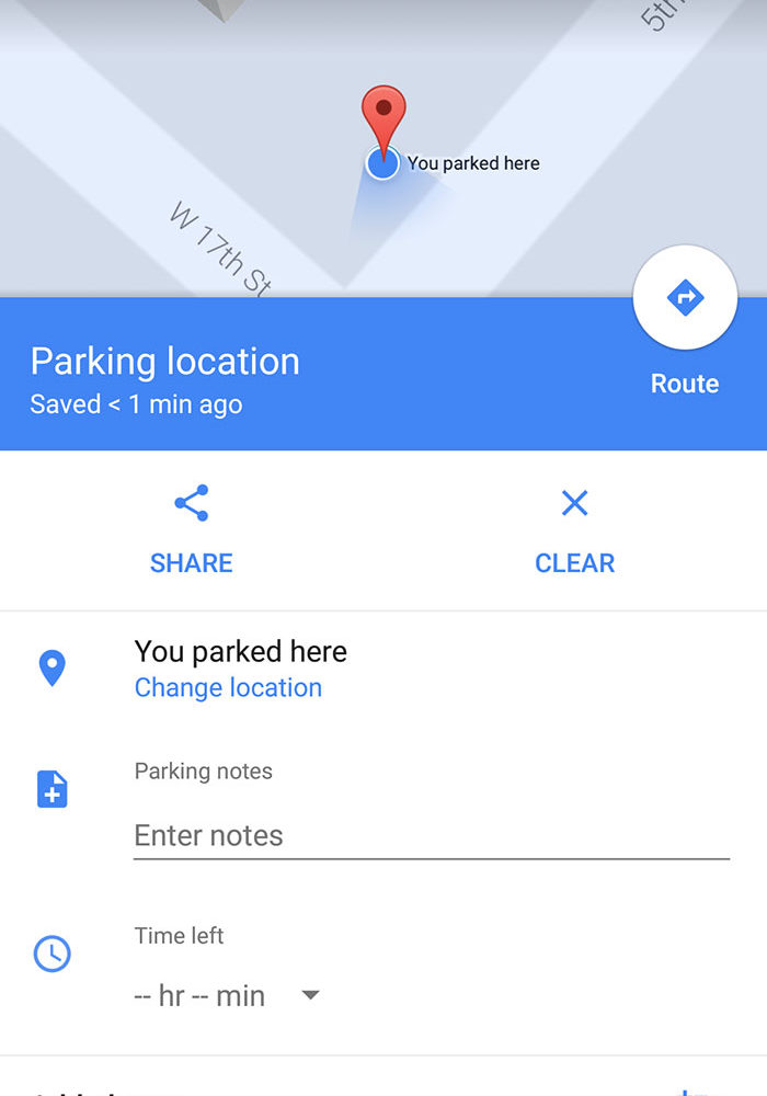 Google Maps Parking 2