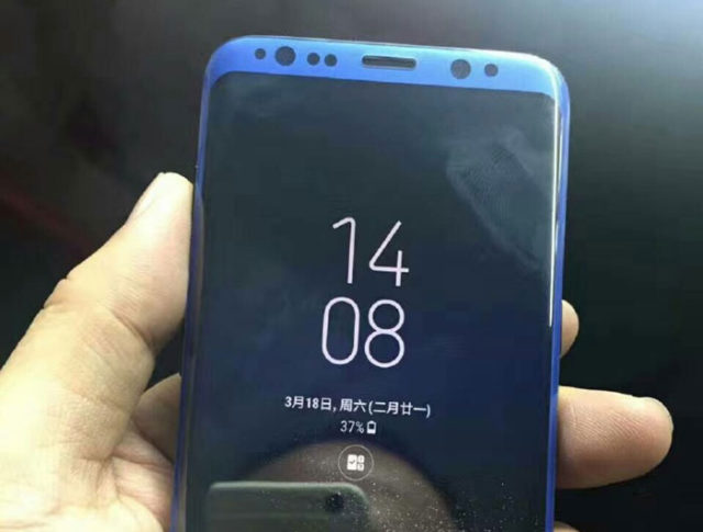 Photo Galaxy S8 bleu