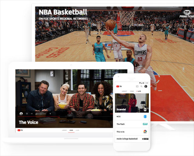 YouTube TV Appli