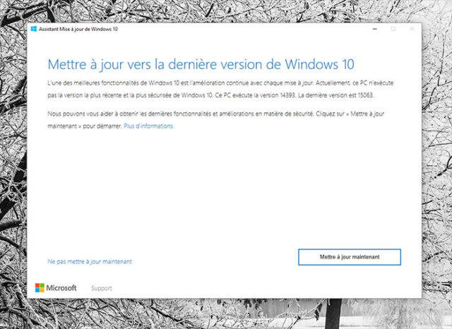 Installer Windows 10 Creators Update 1