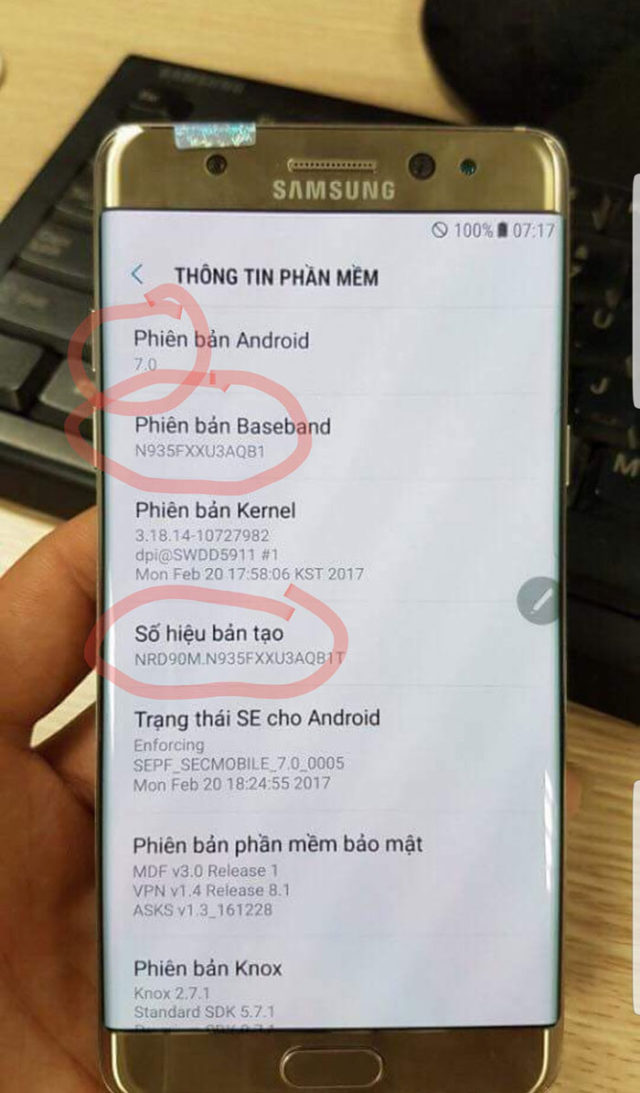Galaxy Note 7R : image 4