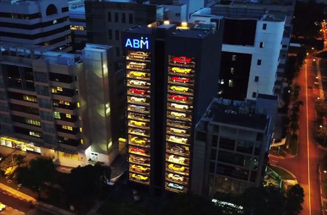 cet immeuble est en r alit un distributeur de voitures de luxe. Black Bedroom Furniture Sets. Home Design Ideas
