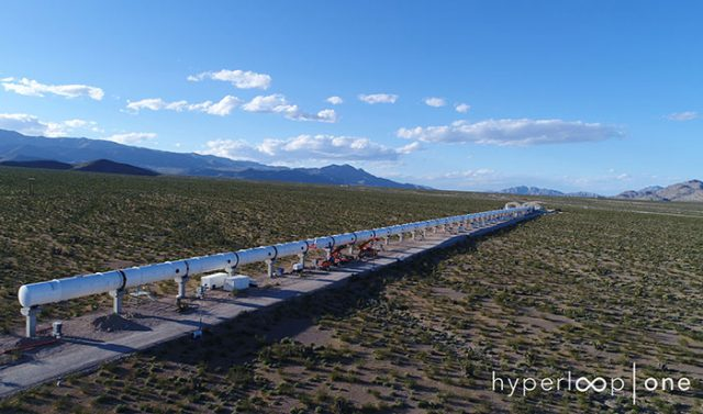 L'Hyperloop One réussit son premier test grandeur nature