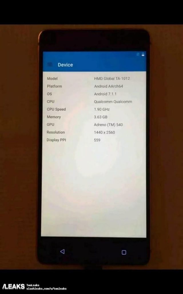 Nokia 8 : fuite 2