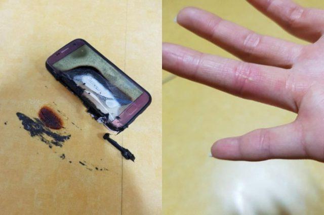 Explosion Galaxy S7 : image 2