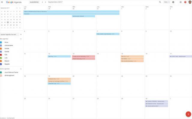 Google agenda fait peau neuve sur desktop for Fenetre volante
