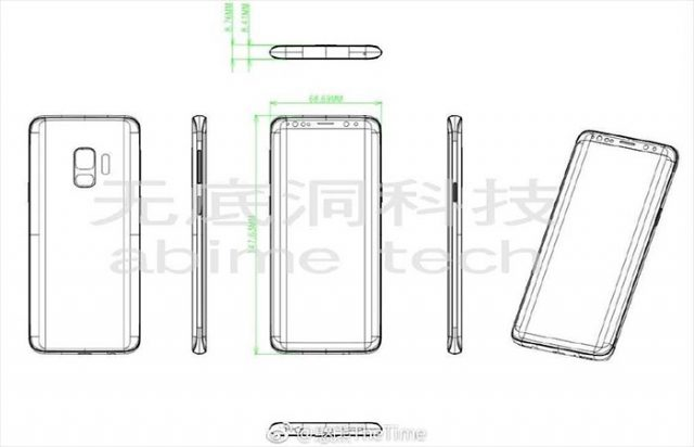 Schéma Galaxy S9