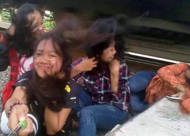 Selfie accident