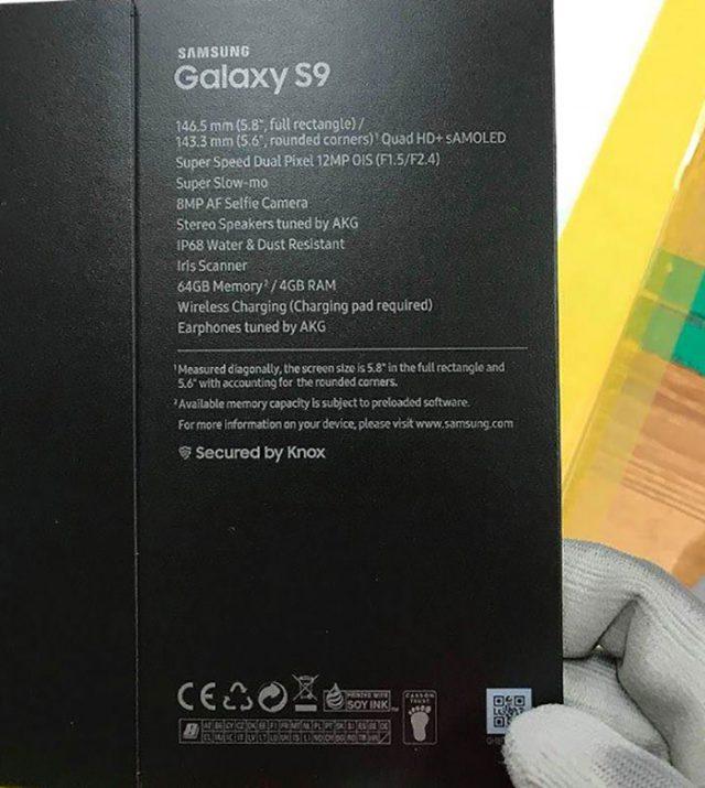 Boîte Galaxy S9