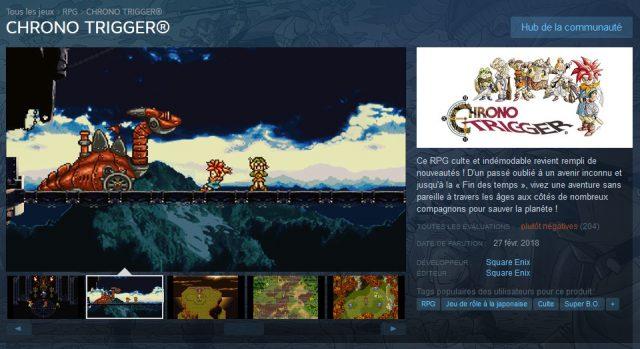 Une sortie surprise sur PC avec un trailer à l'appui — Chrono Trigger
