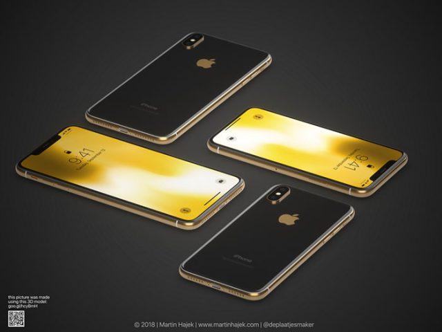 iPhone X doré : image 1