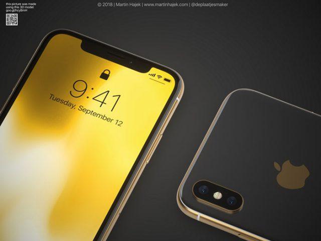 iPhone X doré : image 4