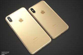 iPhone X doré : image 5