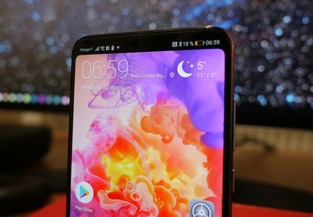 Huawei P20 Pro : sans encoche