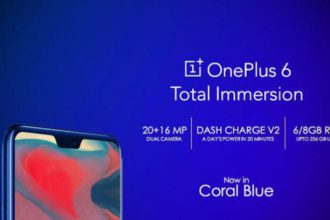 OnePlus 6 Blue Coral