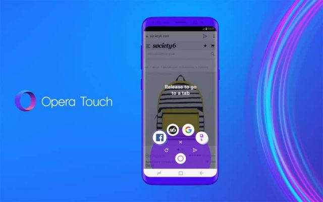 Opera Touch, un nouveau navigateur web mobile, à utiliser partout